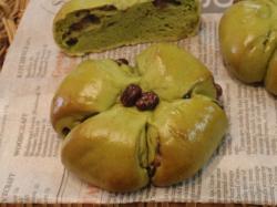 緑茶豆パン①