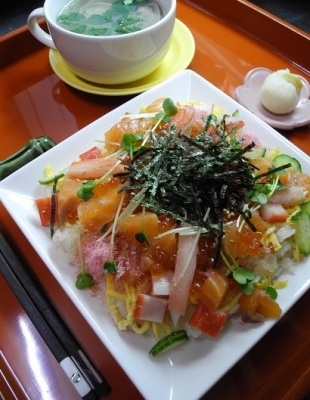20160303桃の節句deチラシ寿司