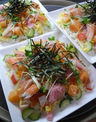 20160303桃の節句チラシ寿司