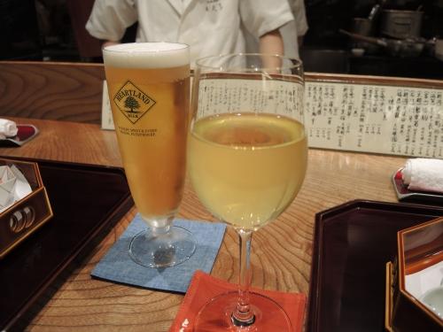 ビールと白ワイン