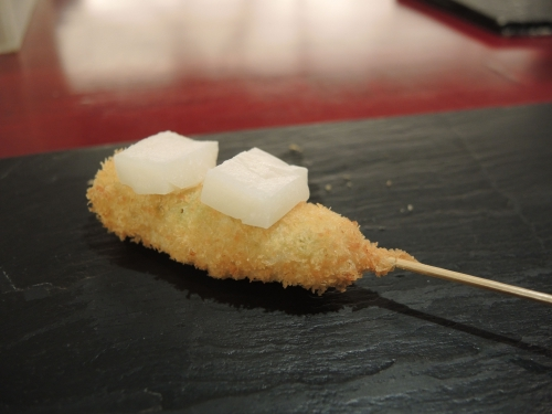 若鶏とお餅の柚子胡椒風味