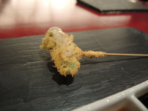紋甲烏賊と菜の花のアンチョビ風味