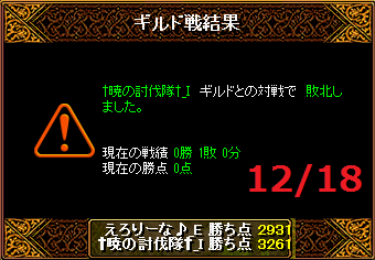 1218えろりなvs†暁の討伐隊†