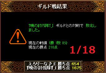 1月18日えろりなvs暁の討伐隊