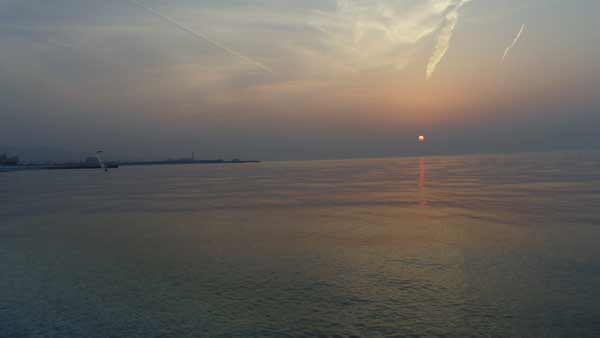 泉南の夕日