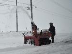 ロータリー除雪機稼働