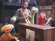 Wynton Marsalis with Telly, Elmo, Zoe