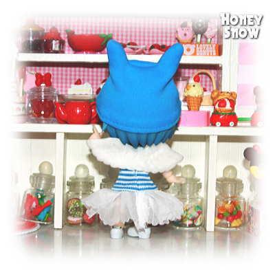 1/12DOLL 【ニャンコ天使】 服 オビツ11、キューポッシュ、LilFairy、ピコニーモD ネコ耳