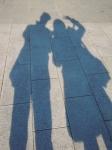 上野公園、影絵の夫婦
