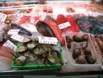 那覇の市場、魚屋