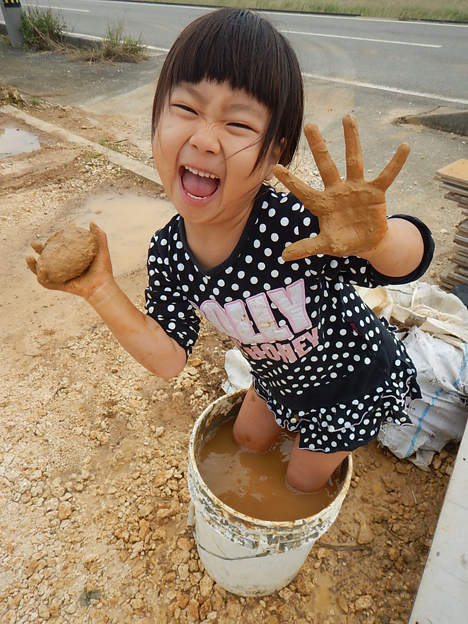 宮古島 泥遊び 上野 子育て