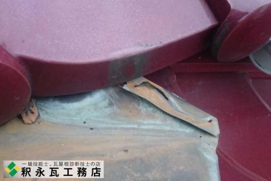 銅谷板、雨漏り修理工事 富山県射水市