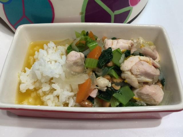 鶏肉と納豆アニー