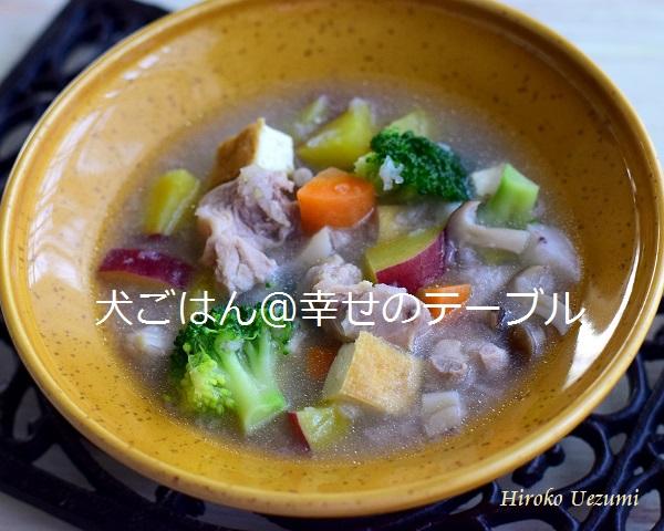 ブログ用鶏肉とレンコンのスープごはん