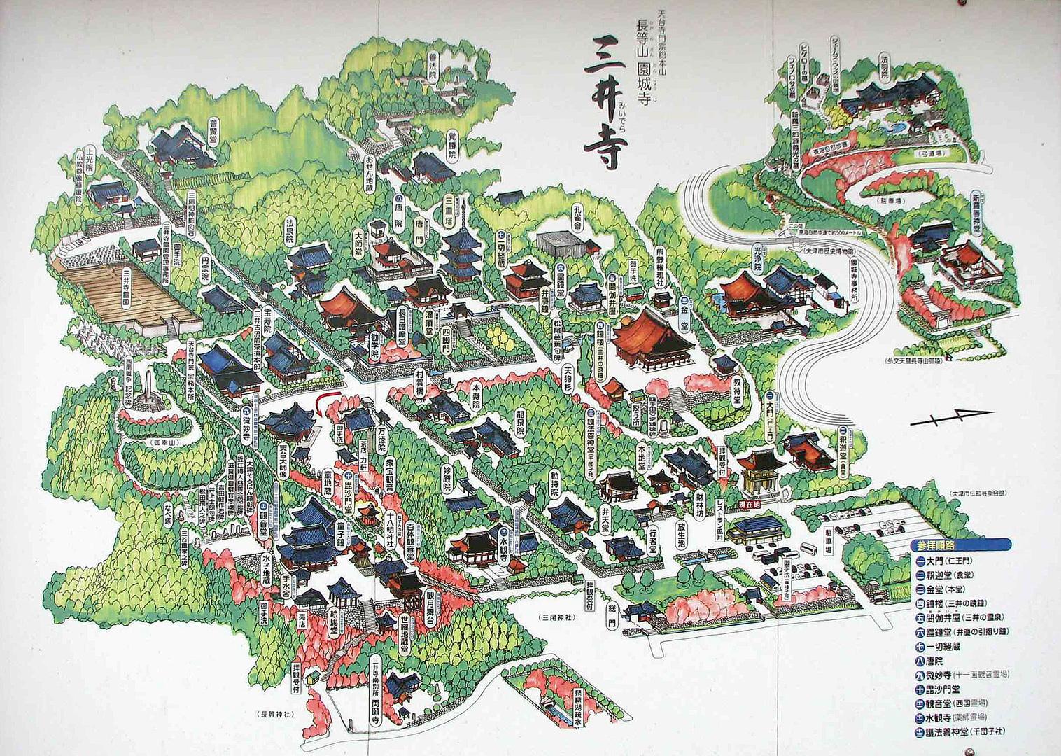 三井寺マップ