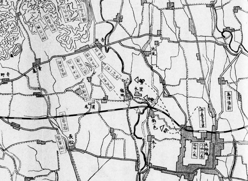 杭瀬川の戦い地図