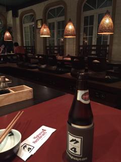 ビールとお座敷席