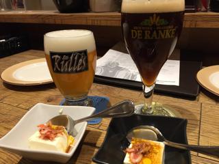 ベルギービールとお通し