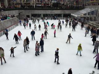 ロックフェラーセンターのスケートリンク