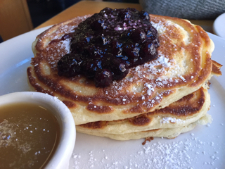 Pancakes with Warm Maple Butter (Blueberry)