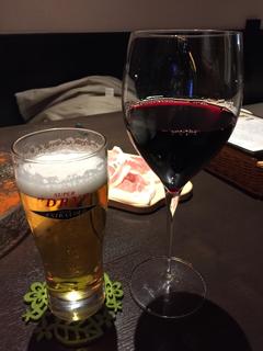 ビールと赤ワインの2刀流