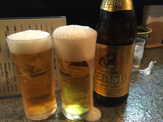 瓶ビール(エビス中瓶)