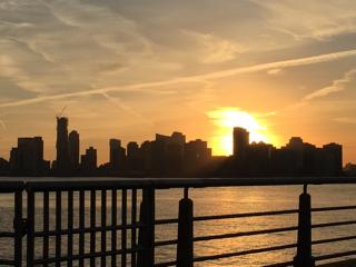 ハドソン川の夕日②