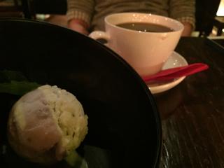 ココナッツアイスと珈琲