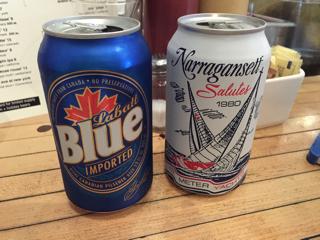 缶ビール(Labatt Blue & Narragansett)