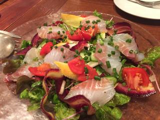 鮮魚のカルパッチョ~サラダ仕立て~(スズキ)