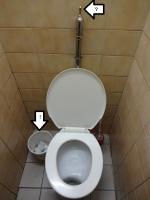地下鉄駅のトイレ