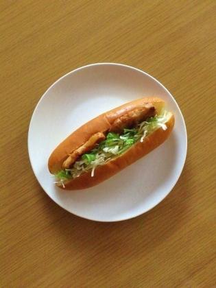 豚ロース味噌漬け焼きドッグ