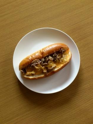 牛焼肉&チーズドッグ1