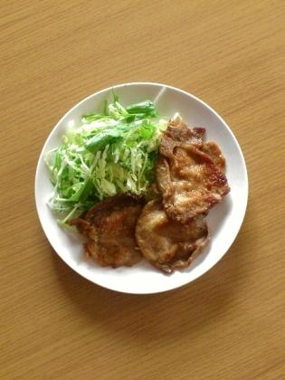 豚ロース生姜焼き1