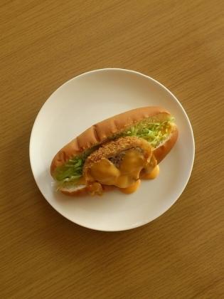 メンチカツドッグ&チーズ