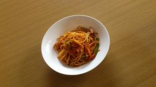 ナポリタン(ベーコン、にんにく、玉葱、アスパラ)3