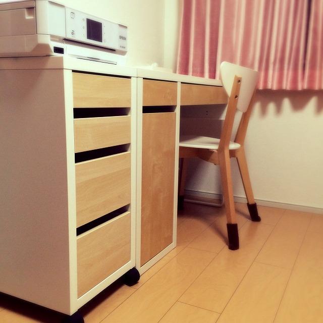 IKEA MICKE ミッケ デスク 机 引き出しユニット キャスター  組み立て