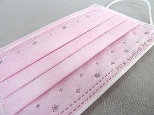 銀イオンマスク-ピンク