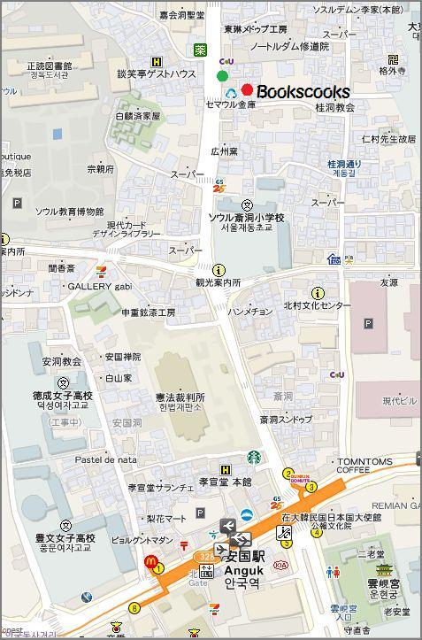 ブッククックスの地図