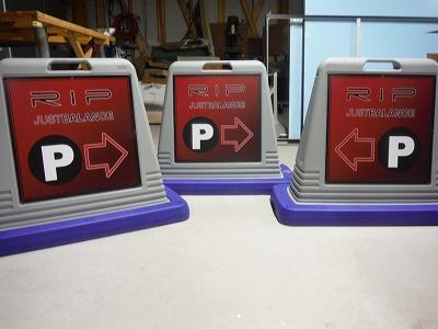 駐車場誘導樹脂看板