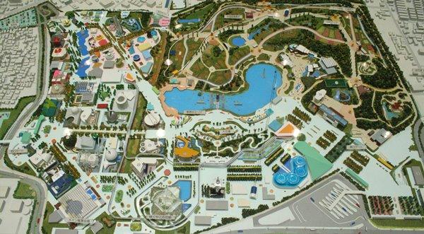 2010-04-29 鶴見緑地 049 国際花と緑の博覧会(花博)開催当時の会場、模型 600×331