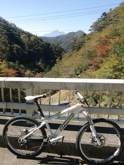 犬路で富士山