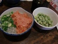 ねぎトロ&豆