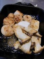 生ホタテとエリンギのバター焼き