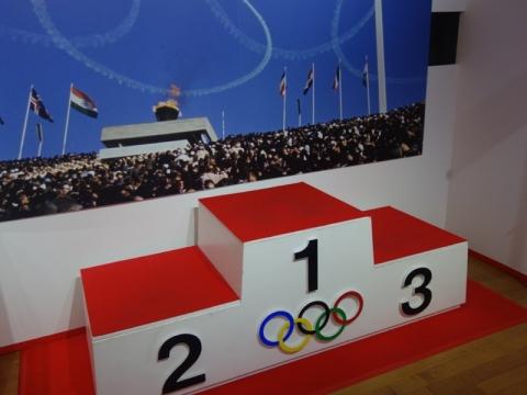 1964年、東京オリンピックの表彰台!