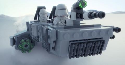 エピソード7に登場しなかったスノースピーダーがレゴで登場!