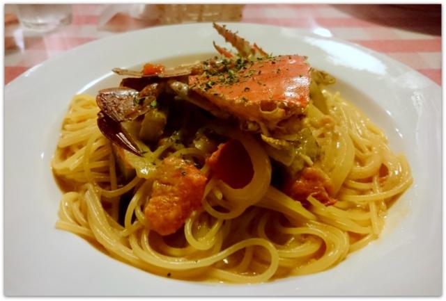 青森県 黒石市 イタリアン パスタ レストラン サッソネロ ランチ ワタリガニのトマトクリームソース