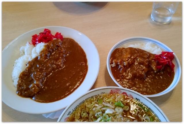 青森県 弘前市 白神飯店 食堂 グルメ ランチ 食事処 カレー ラーメン セット