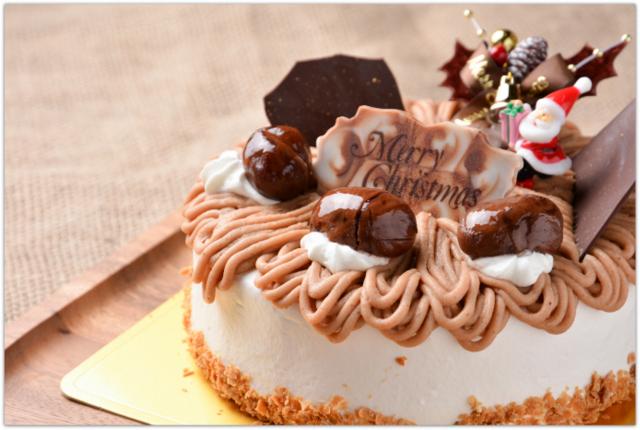 クリスマスケーキ モンブラン