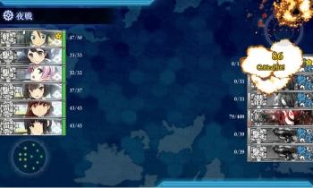 E-4-O夜戦5戦目ゲージ破壊